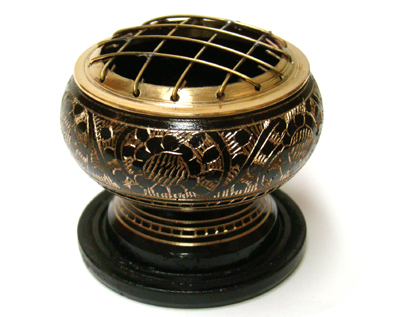Small Brass Screen Incense Burner 2.5 wide